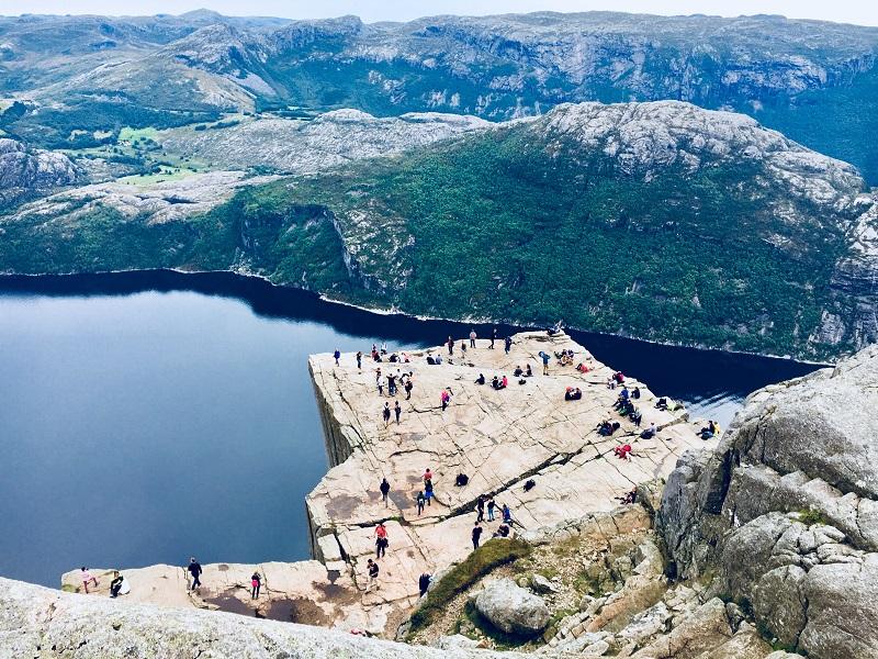 Stavanger régió Preikestolen Pulpit Rock Szószék szikla