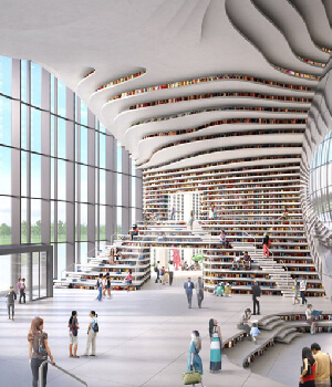 egyeni-utazo-konyvtar-Tianjin-Binhai-Library