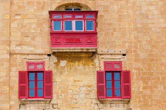 Málta utazás - Máltai erkélyek