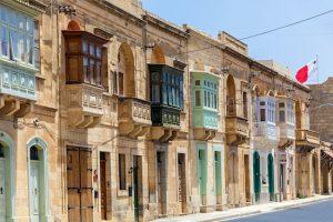 Málta utazás egyénileg - Valletta erkélyek