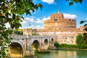Egyéni utazó Olaszország Róma angyal vár