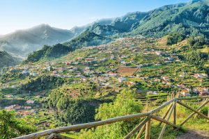 Beautiful Landscape view of  Mountain Village, Madeira, Portugal.
